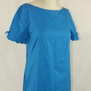 J. Crew, Size 2 Josie Blue Cotton Sheath Dress